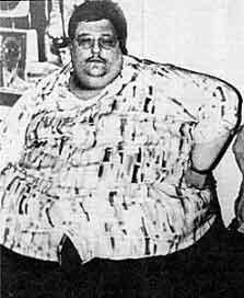 Майкл Хебранко - один из самых толстых мужчин в мире